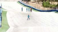 BATMAN BELEDIYESI - 45 Derece Sıcaklıkta Kayak Keyfi