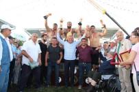 KALICI KONUTLAR - Düzce Yağlı Güreşleri'nde Finalde Recep Kara'yı Yenen Orhan Okulu Kazandı