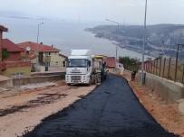 AMBALAJ ATIKLARI - Körfez'de Asfalt Çalışmaları Devam Ediyor