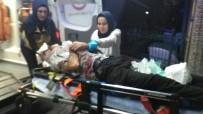 BELH - Otomobil Trafik Işıklarına Çarptı Açıklaması 1'İ Ağır 2 Yaralı