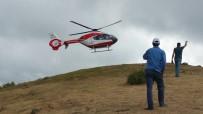 AMBULANS HELİKOPTER - Yamaç Paraşütü Gösterisinde Kaza