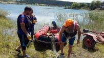 BALIK AĞI - Jandarma Ve AFAD'tan Beyler Barajında Kaçak Ağ Operasyonu