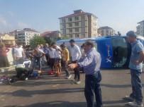 İZZET BAYSAL DEVLET HASTANESI - Kaza Yapan Kargo Aracı Devrildi Açıklaması 4 Yaralı