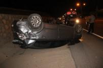 DİREKSİYON - Otomobil Takla Attı Açıklaması2 Yaralı