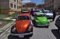 DÜĞÜN KONVOYU - Vosvos Arabalar İle Düğün Büyük İlgi Gördü