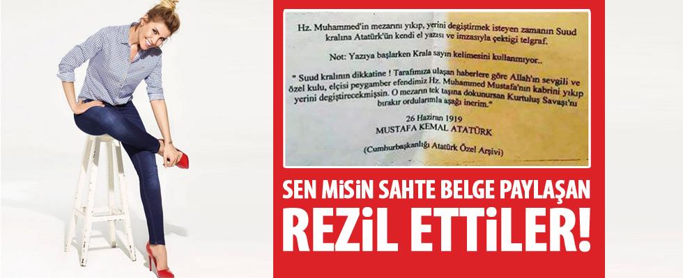 Gülben Ergen'e Atatürkçüler'den tepki yağıyor