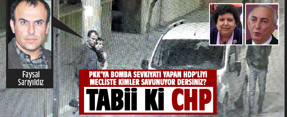 PKK'ya bomba taşıyan HDP'li vekile CHP desteği