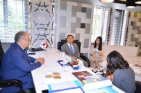 GÖREV SÜRESİ - Kore Cumhuriyeti Ankara Büyükelçisi Yunsoo Cho'dan, Başkan Kutlu'ya Ziyaret