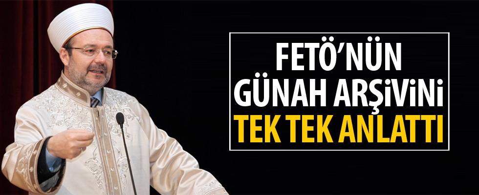 Mehmet Görmez FETÖ raporunu açıkladı