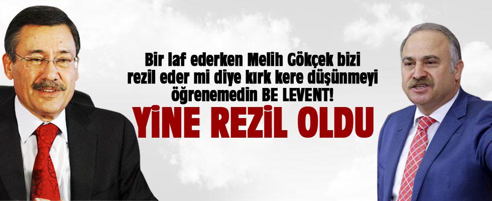 Melih Gökçek CHP'li Levent Gök'ü rezil etti