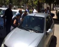 SAKARYA CADDESİ - Otomobilde Bırakılan Çocuk Cam Kırılarak Kurtarıldı