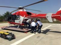 AMBULANS HELİKOPTER - İnşaattan Düşen İşçi Helikopter İle Kaldırıldığı Hastanede Öldü