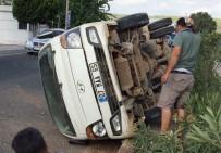 OSMAN AYDıN - Milas'ta Kontrolden Çıkan Kamyonet Takla Attı; 3 Yaralı