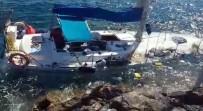 Yelkenli Battı, 39 Kaçak Yüzerek Kıyıya Çıktı