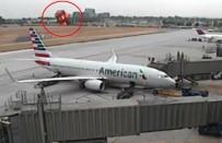 Uçak otoyola düştü
