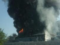 YANGIN FACİASI - Denizli OSB'de fabrika yangını!
