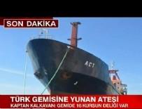 İZMİT KÖRFEZİ - Ege Denizi'nde Türk bayraklı yük gemisine ateş açıldı!