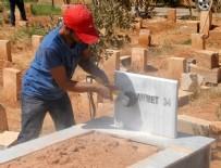 MEZAR TAŞLARı - Suruç'ta terörist mezarlarındaki örgüt simgeleri silindi