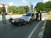 ELEKTRİKLİ BİSİKLET - Otomobil İle Elektrikli Bisiklet Çarpıştı Açıklaması 1 Yaralı