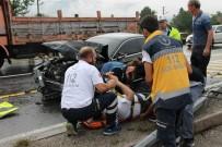 BOLU DAĞı - Bolu Dağı'nda Trafik Kazası Açıklaması 2 Yaralı