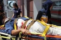 SAKARYA CADDESİ - İnşaattan Düşen İşçi Yaralandı