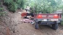 Kepsut'ta Traktör Devrildi Açıklaması 2 Ölü