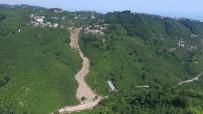 FINDIK HASADI - Trabzon'da Heyelanın Boyutu Havadan Böyle Görüntülendi