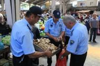 KÜLTÜR MANTARı - Zabıta Halk Pazarında 50 Kiloluk Mantara El Koydu