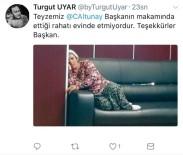 SULTANGAZİ BELEDİYESİ - Başkanın makamında çekilen fotoğraf sosyal medyada gündem oldu
