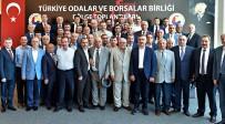 İKIZ KULELER - Bölge Oda Ve Borsa Başkanları TOBB'da Buluştu