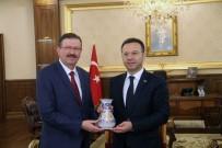 DOĞAN EROL - Genel Sekreter Bayram, Vali Aksoy'u Ziyaret Etti