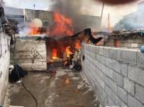 Nusaybin'de Yangın Evi Küle Dönüştürdü