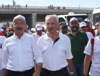 Türban yasakçısı Kemal Alemdaroğlu Adalet Yürüyüşü'nde