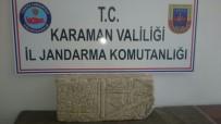 MEZAR TAŞI - Jandarma, Tarihi Mezar Taşı Ele Geçirdi