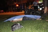 Motosiklet Ağaca Çarptı Açıklaması1 Ölü, 1 Ağır Yaralı