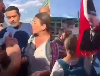 Berlin'de CHP yürüyüşüne Türk Bayrağı almadılar