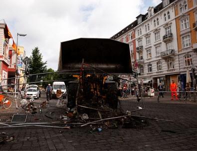 Hamburg'taki şiddet olaylarının bilançosu