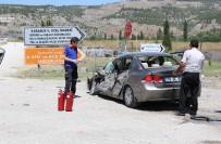 HAMZALAR - Karabük'te Trafik Kazası Açıklaması 3 Yaralı