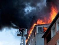 YANGıN YERI - Ataşehir'de çatı katında çıkan yangın paniğe neden oldu
