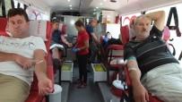 FATIH SOLAK - Burhaniye'de Kan Bağışı Kampanyasına Yoğun İlgi