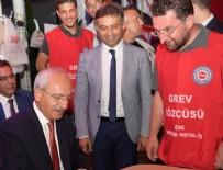 BEYKÖY - Kılıçdaroğlu, grev yapan işçileri ziyaret etti