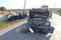TEKIRDAĞ ÇORLU - İki otomobil çarpıştı: 4 yaralı