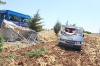 HASANCıK - Kamyonet Tarlaya Uçtu Açıklaması 9 Yaralı