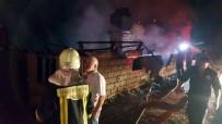 Samanlıkta Yangın Açıklaması 9 Büyükbaş Havan Telef Oldu