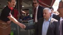 GÖRME ENGELLİ - Başbakan Yıldırım'dan Esnaf Ziyareti