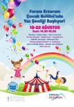 DENIZ KABUĞU - Forum Erzurum'dan Miniklere Müjde Açıklaması Çocuk Kulübü Yaz Şenliği Başlıyor!