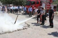 YANGIN TATBİKATI - Hakkari'de Yangın Tatbikatı