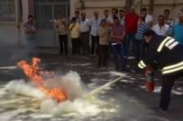 YANGIN TATBİKATI - Kırmızı Kod Ekibine Yangın Eğitimi Verildi
