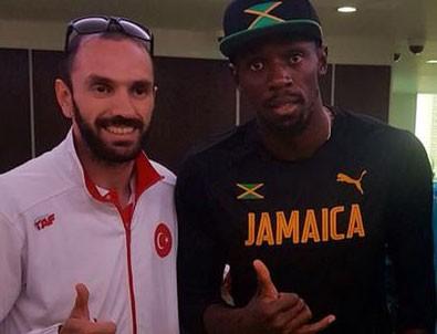 Ramil Guliyev Usain Bolt ile biraraya geldi