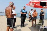 DENİZ POLİSİ - Vatandaş Yüzdü, Polis Bilgilendirdi